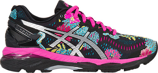 GEL-Kayano 23 Black/Silver/Pink Glow 3 RT