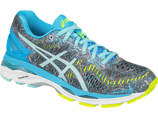 asics gel kayano 23 shark aruba blue