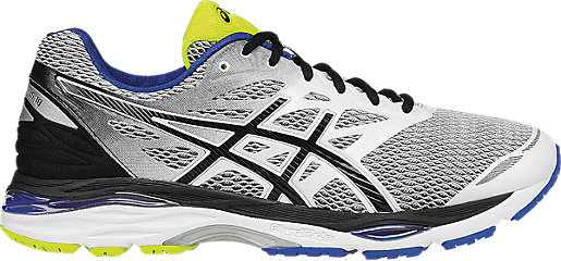 Asics GEL CUMULUS 18 colore Whiye/Black/Electric Blue
