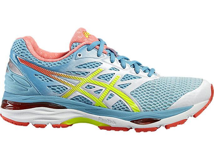 Women's GEL-CUMULUS 18 | WHITE/SAFETY YELLOW/BLUE ATOLL ...