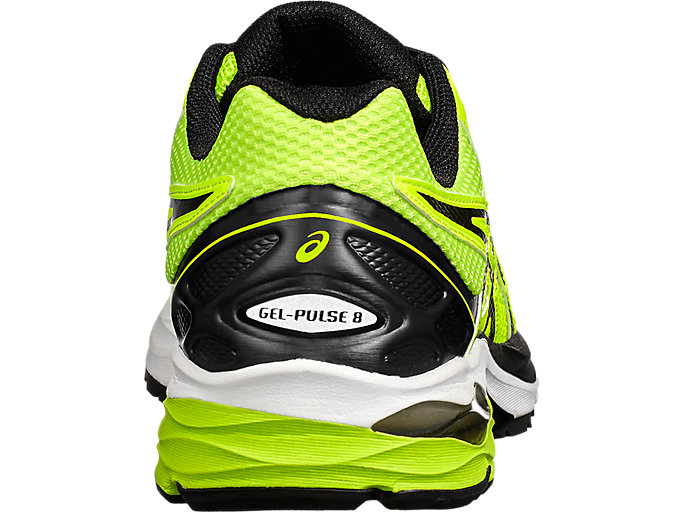 Back view of GEL-PULSE 8, Safety Yellow/Black/Onyx