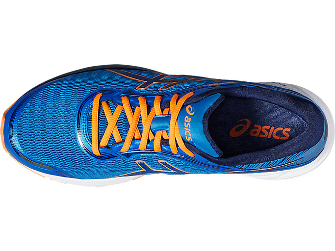 Top view of DynaFlyte, ELECTRIC BLUE/INDIGO BLUE/HOT ORANGE