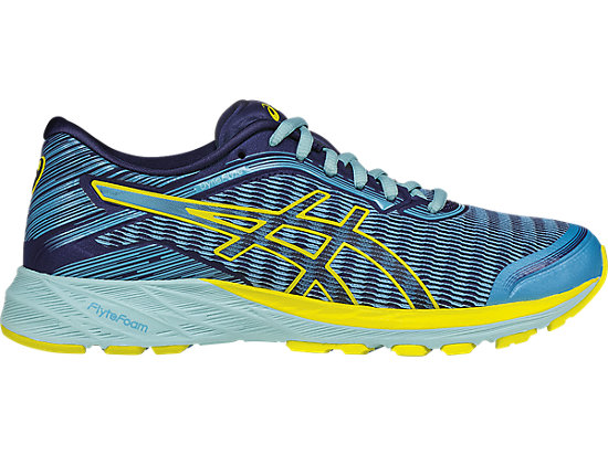 Cheap ASICS Women's Dynaflyte Running Shoes Aquarium/Sun/Indigo Blue