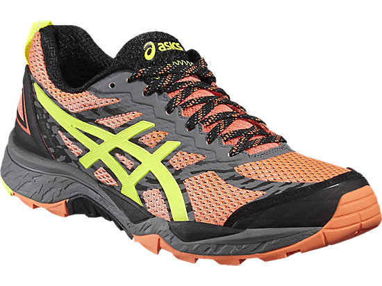 GEL-FUJITRABUCO 5 FLASH CORAL/SAFETY YELLOW/BLACK 3