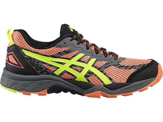 GEL-FUJITRABUCO 5 FLASH CORAL/SAFETY YELLOW/BLACK 15