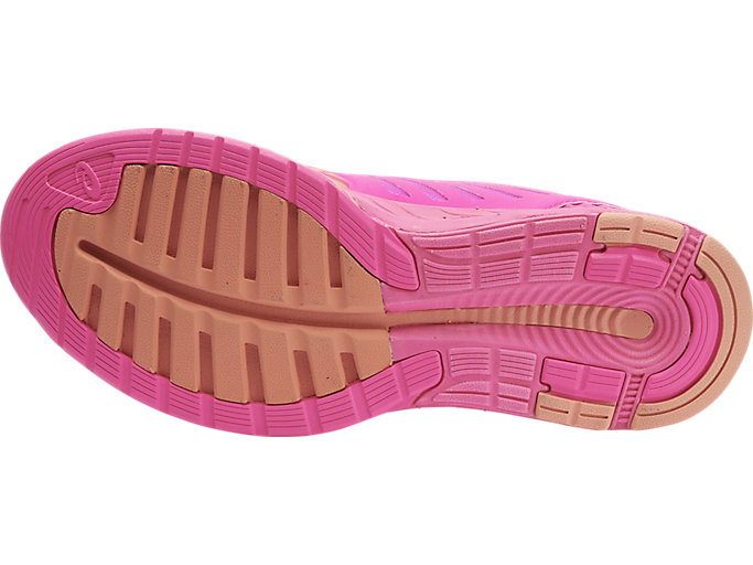 Bottom view of fuzeX, Hot Pink/Peach Melba/Hot Pink