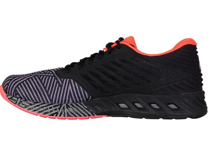 Left side view of fuzeX, Aluminum/Flash Coral/Black