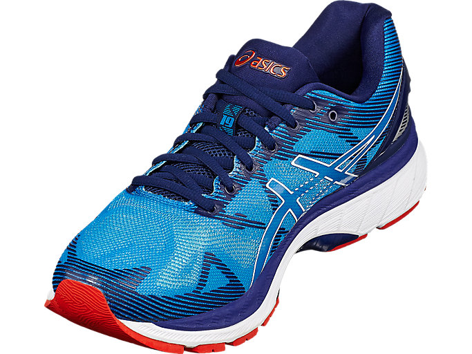 Front Right view of GEL-Nimbus 19, Diva Blue/White/Indigo Blue