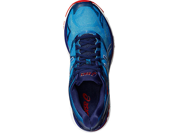 Top view of GEL-Nimbus 19, Diva Blue/White/Indigo Blue