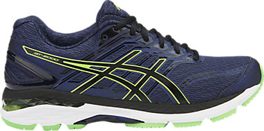 ASICS Men's Gt 2000 5 Indigo Blue, Black and Green Gecko