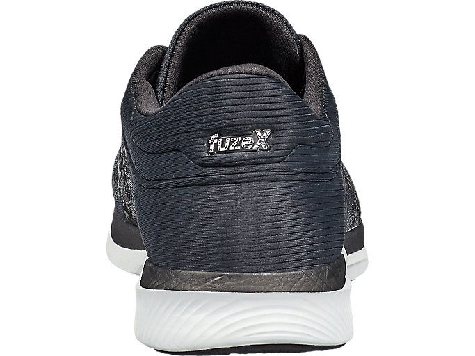 Back view of Zapatilla de running FUZEX RUSH para hombre, MIDGREY/BLACK/WHITE