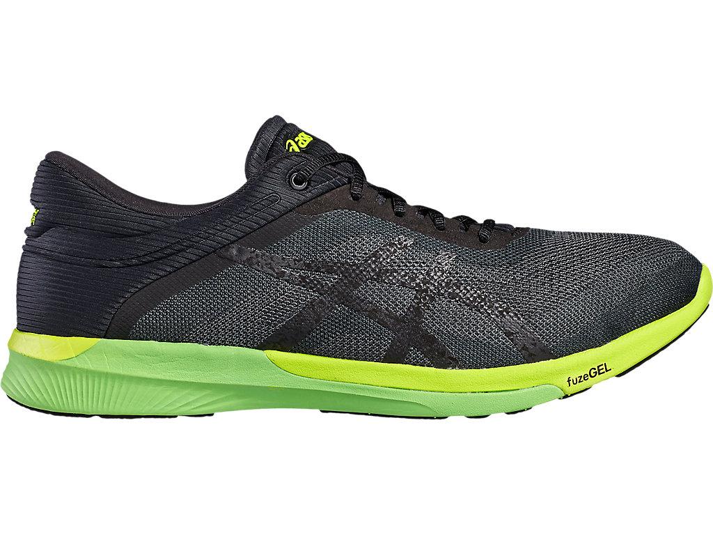 Asics FUZEX RUSH Men's T718N.9790 Carbon/Black/Safety Yellow Running Shoes