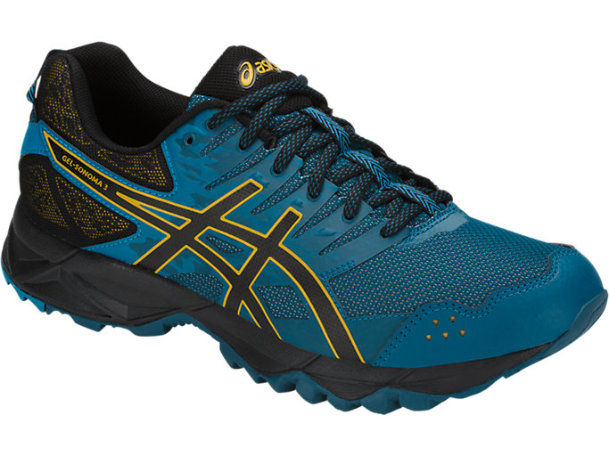 Front Right view of GEL-SONOMA 3, INK BLUE/BLACK/LEMON CURRY