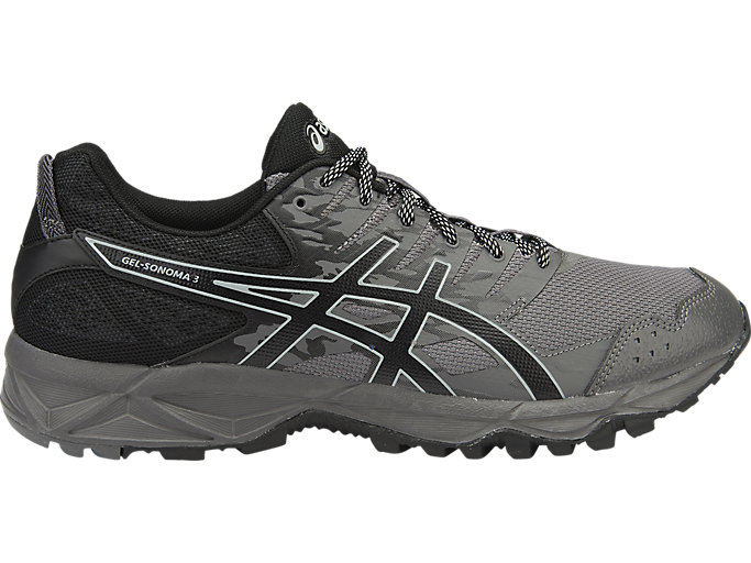 Men's GEL Sonoma 3 CarbonBlackMidgreyTrail Running CarbonBlackMidgrey Trail Running