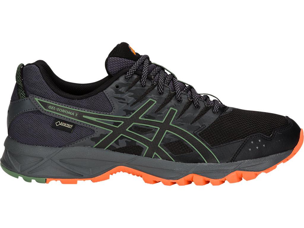 ASICS GEL SONOMA 3 G TX Men's Running Shoes, BlackDark Grey