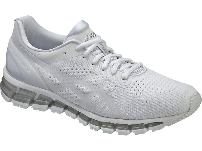 Front Right view of GEL-QUANTUM 360 KNIT, WHITE/SNOW/SILVER
