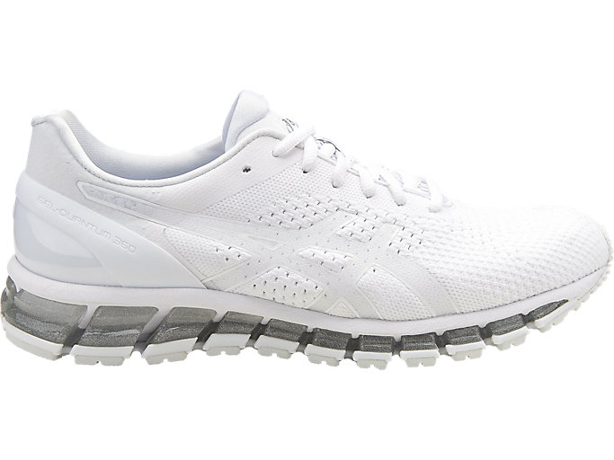 Right side view of Zapatilla de running GEL-QUANTUM 360 KNIT para hombre, WHITE/SNOW/SILVER