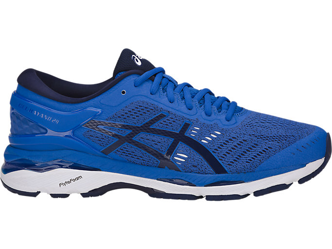 Right side view of GEL-KAYANO 24, VICTORIA BLUE/INDIGO BLUE/WHIT