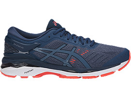 Right side view of GEL-KAYANO 24, SMOKE BLUE/SMOKE BLUE/DARK BLUE