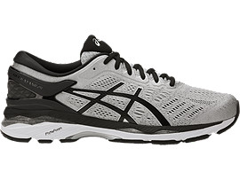 Right side view of GEL-KAYANO 24, SILVER/BLACK/MID GREY