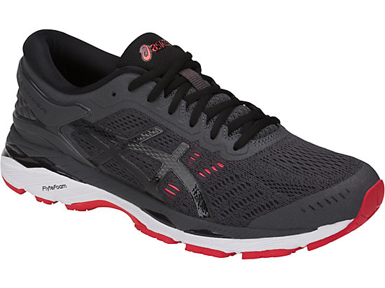 GEL-KAYANO 24 DARK GREY/BLACK/FIERY RED