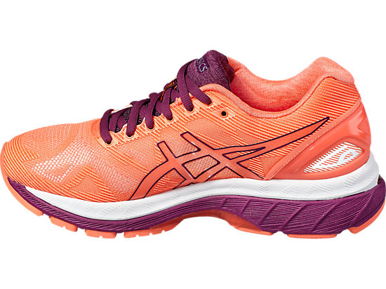 GEL-NIMBUS 19 FLASH CORAL/DARK PURPLE/WHITE 7