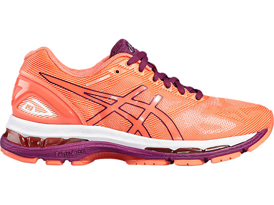 GEL-NIMBUS 19 FLASH CORAL/DARK PURPLE/WHITE 3