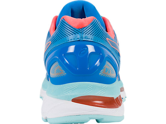 GEL-NIMBUS 19 pour femmes DIVA BLUE/FLASH CORAL/AQUA SPLASH 19