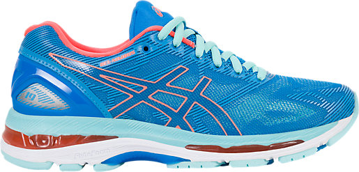 Asics Gel Nimbus 19 Scarpe Donna Diva Blue/Flash Coral/Aqua Splash