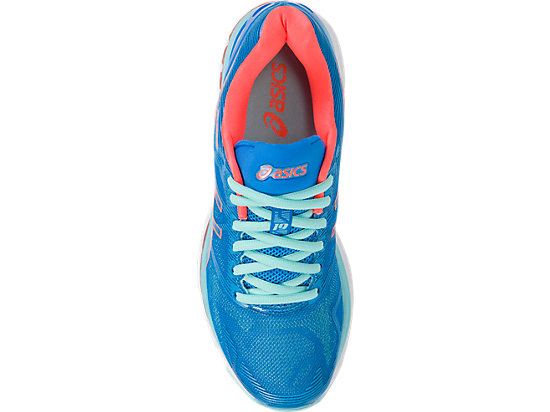 GEL-NIMBUS 19 pour femmes DIVA BLUE/FLASH CORAL/AQUA SPLASH 15 TP
