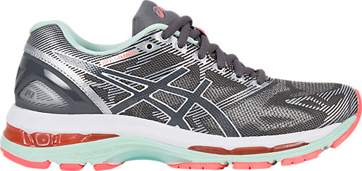 Cheap Asics Gel-Nimbus 19 Carbon/White/Flash Coral For Women