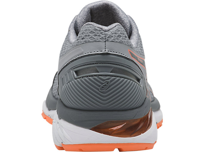 Back view of GT-3000 5, MID GREY/STONE GREY/CANTELOUPE