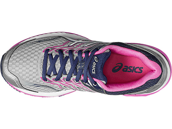 GT-2000 5 Damen Straßenlauf Schuhe MIDGREY/WHITE/PINK GLOW 15 TP