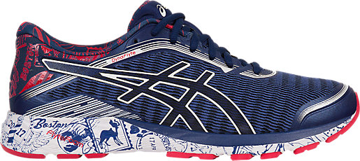 asics red white and blue