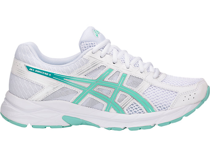 Women's GEL Contend 4 WhiteAruba BlueSilverKjører WhiteAruba BlueSilver Running