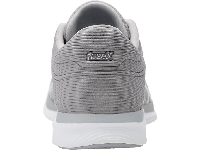 Back view of Zapatilla de running FUZEX RUSH para mujer, WHITE/SILVER/MID GREY