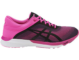 Right side view of FUZEX RUSH HARDLOOPSCHOEN VOOR DAMES, Hot Pink/Black/White