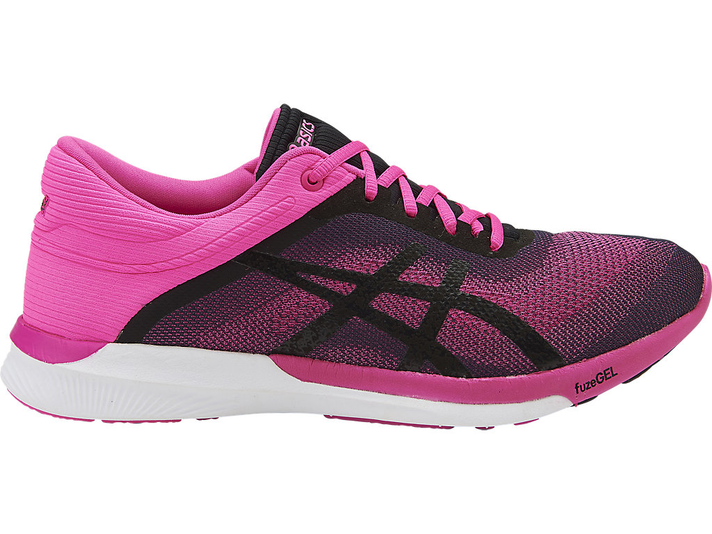 asics running fuzex rush sneakers in pale pink