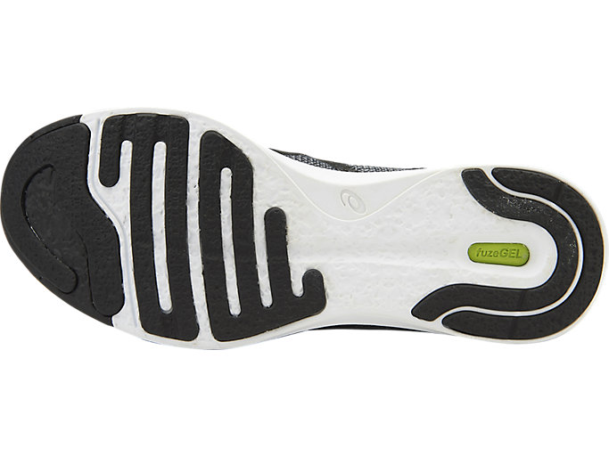 Bottom view of Zapatilla de running FUZEX RUSH para mujer, MIDGREY/BLACK/WHITE