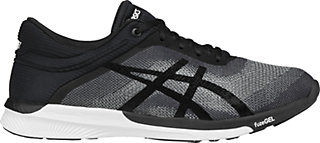 asics shoes black and white for women