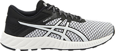 Details about Asics Fuze X Lyte 2 Black Silver White Trainers Running Shoes UK 11, 12 Gel