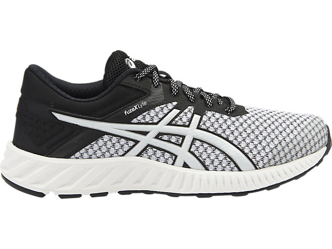 Right side view of FUZEX LYTE 2, White/Black/Silver