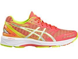 Right side view of GEL-DS TRAINER 22 NC, Diva Pink/Silver/Safety Yellow