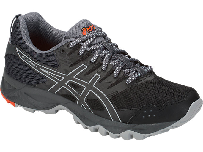 Front Right view of GEL-SONOMA 3, BLACK/DARK GREY