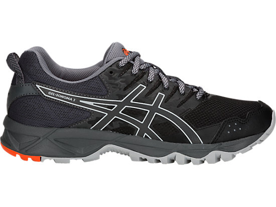 GEL-SONOMA 3, BLACK/DARK GREY