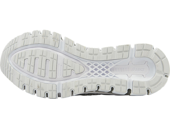 Bottom view of GEL-QUANTUM 360 KNIT Laufschuh für Damen, WHITE/SNOW/SILVER