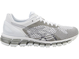 Right side view of GEL-QUANTUM 360 KNIT Laufschuh für Damen, WHITE/SNOW/SILVER