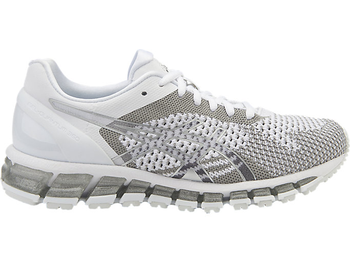 Right side view of GEL-QUANTUM 360 KNIT hardloopschoen voor dames<br>, WHITE/SNOW/SILVER