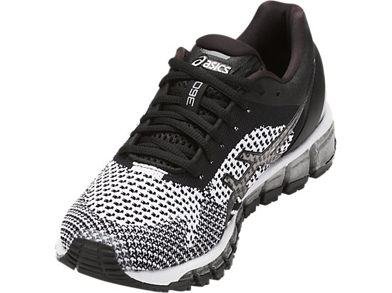 GEL-QUANTUM 360 KNIT BLACK/WHITE/SILVER