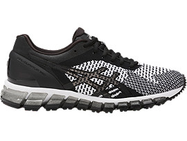 Right side view of GEL-QUANTUM 360 KNIT hardloopschoen voor dames<br>, BLACK/WHITE/SILVER